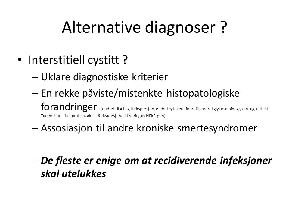 Alternative diagnoser