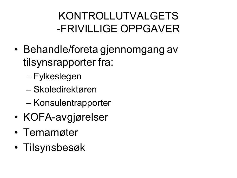 KONTROLLUTVALGETS -FRIVILLIGE OPPGAVER