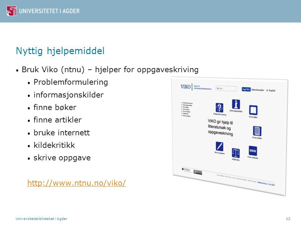 Nyttig hjelpemiddel Bruk Viko (ntnu) – hjelper for oppgaveskriving