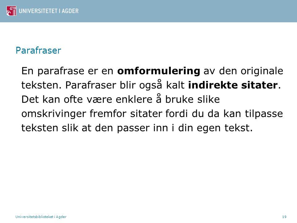 Parafraser