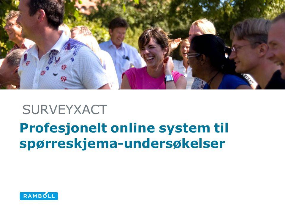 Profesjonelt online system til spørreskjema-undersøkelser