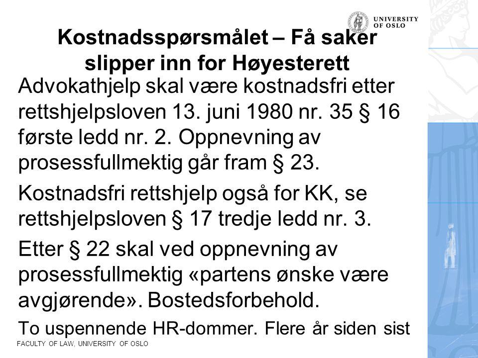 Kostnadsspørsmålet – Få saker slipper inn for Høyesterett