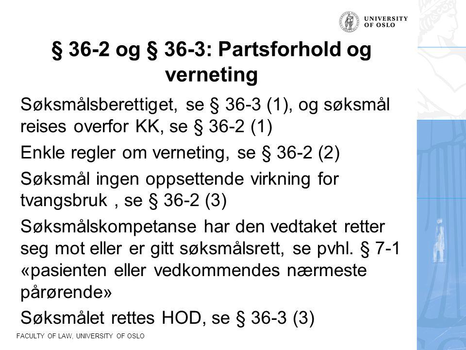§ 36-2 og § 36-3: Partsforhold og verneting