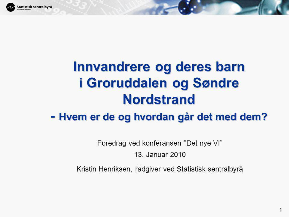 Innvandrere og deres barn i Groruddalen og Søndre Nordstrand - Hvem er de og hvordan går det med dem