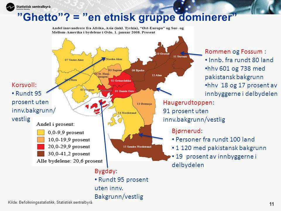 Ghetto = en etnisk gruppe dominerer