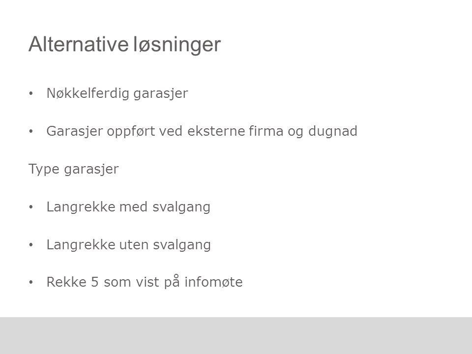 Alternative løsninger