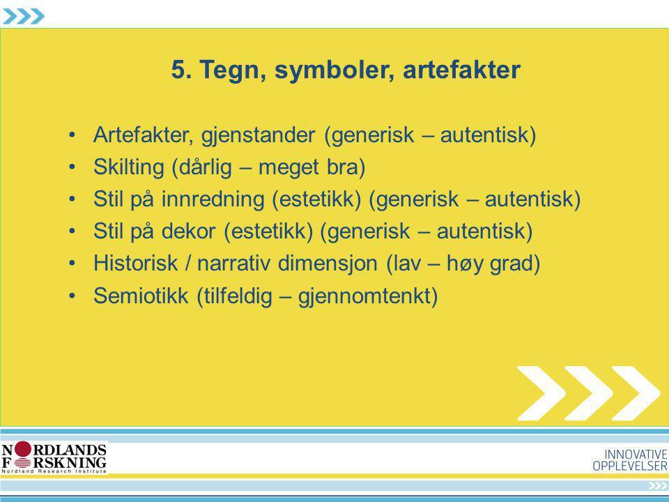 5. Tegn, symboler, artefakter