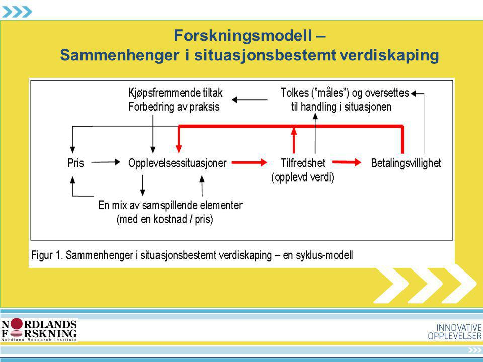 Forskningsmodell – Sammenhenger i situasjonsbestemt verdiskaping