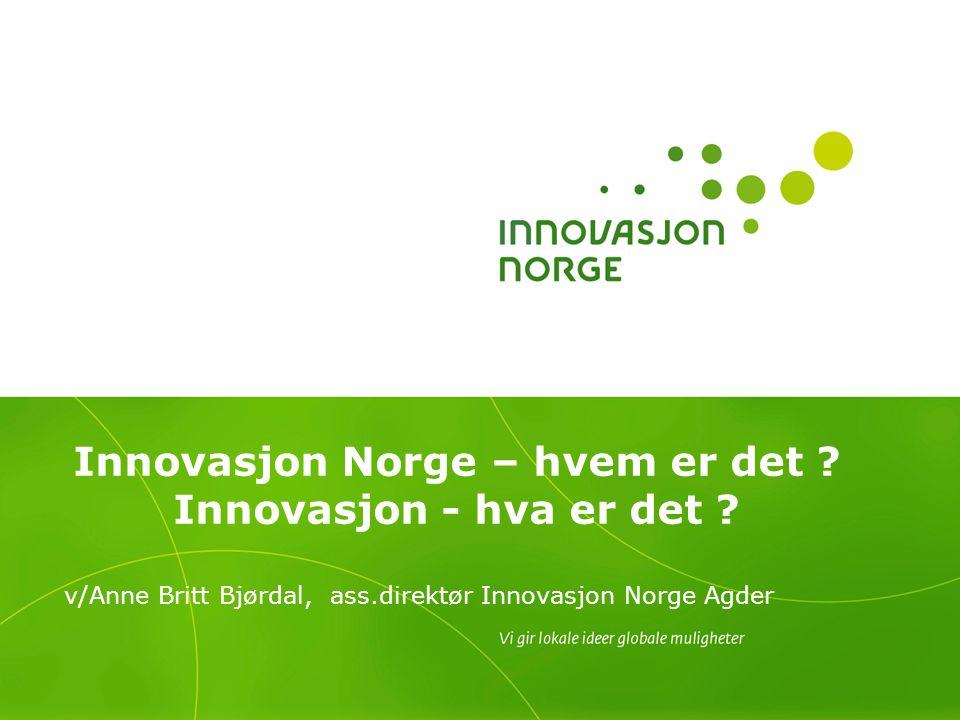 Innovasjon Norge – hvem er det Innovasjon - hva er det