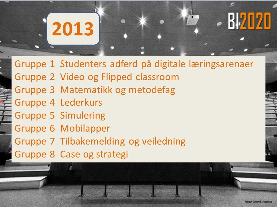 2013 Gruppe 1 Studenters adferd på digitale læringsarenaer