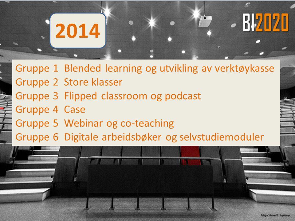 2014 Gruppe 1 Blended learning og utvikling av verktøykasse