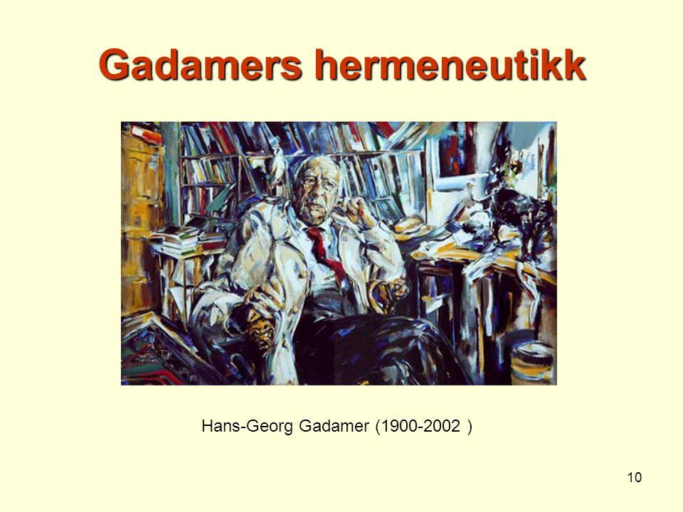 Gadamers hermeneutikk