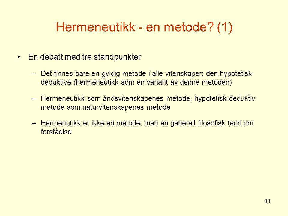 Hermeneutikk - en metode (1)