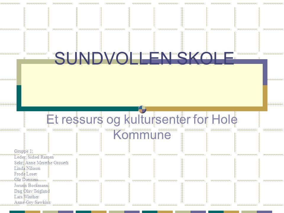 Et ressurs og kultursenter for Hole Kommune