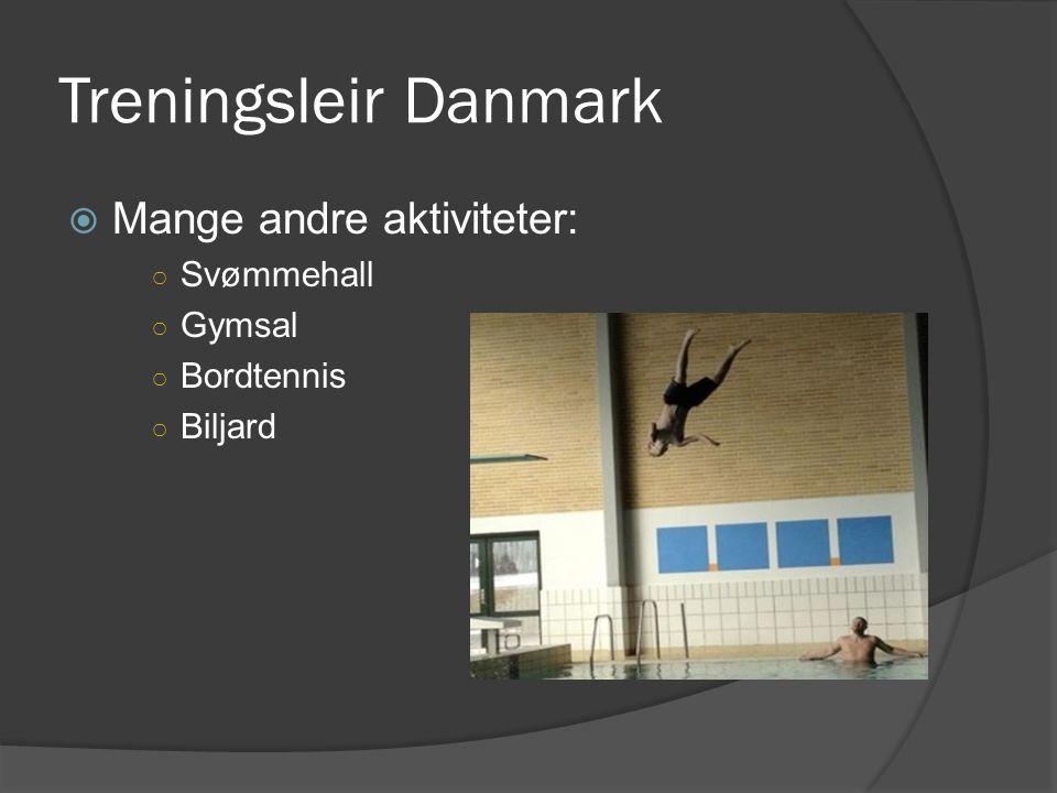 Treningsleir Danmark Mange andre aktiviteter: Svømmehall Gymsal