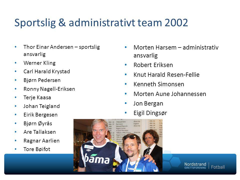 Sportslig & administrativt team 2002