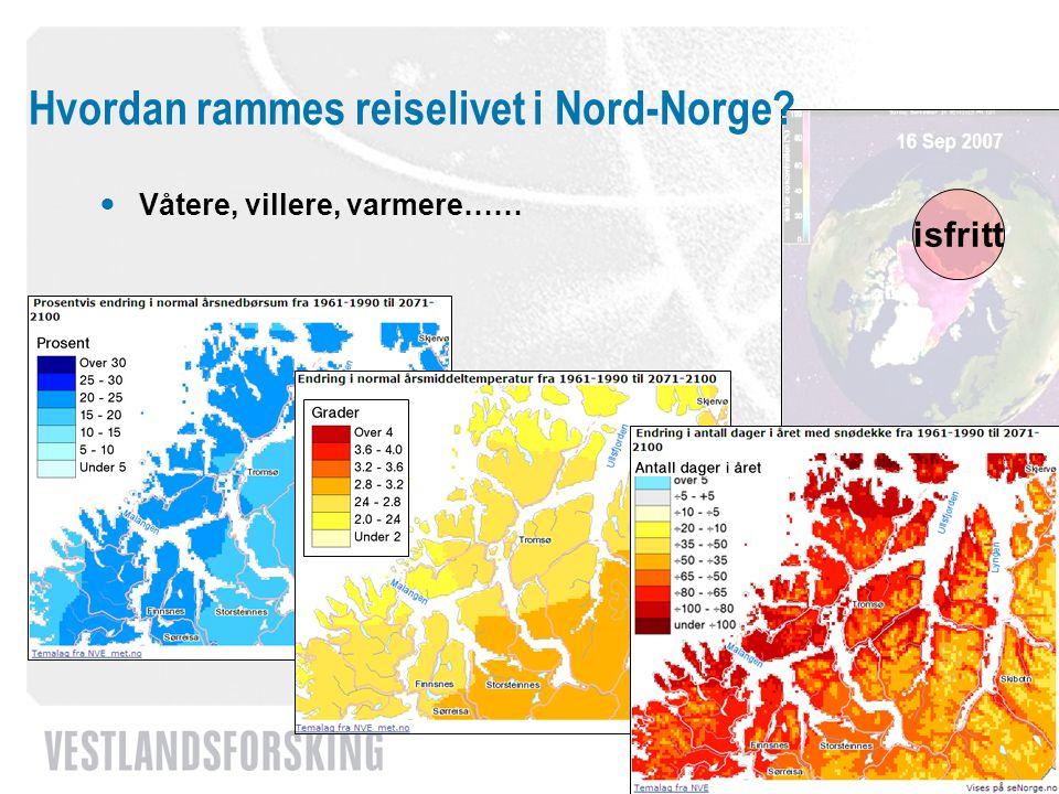 Hvordan rammes reiselivet i Nord-Norge