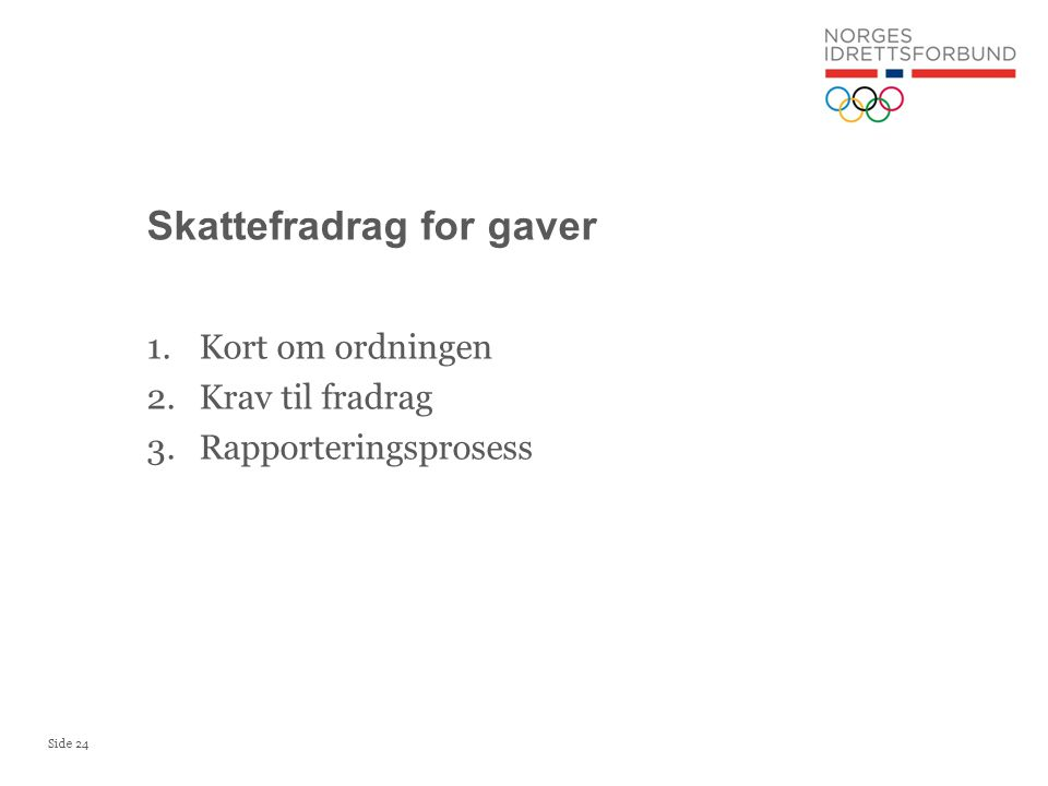 Skattefradrag for gaver