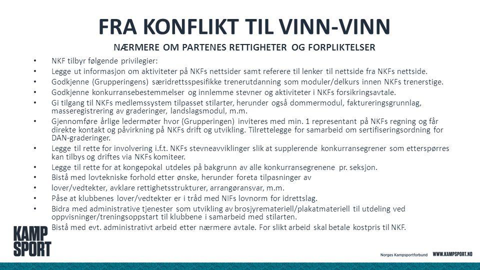 Fra konflikt til vinn-vinn Nærmere om partenes rettigheter og forpliktelser