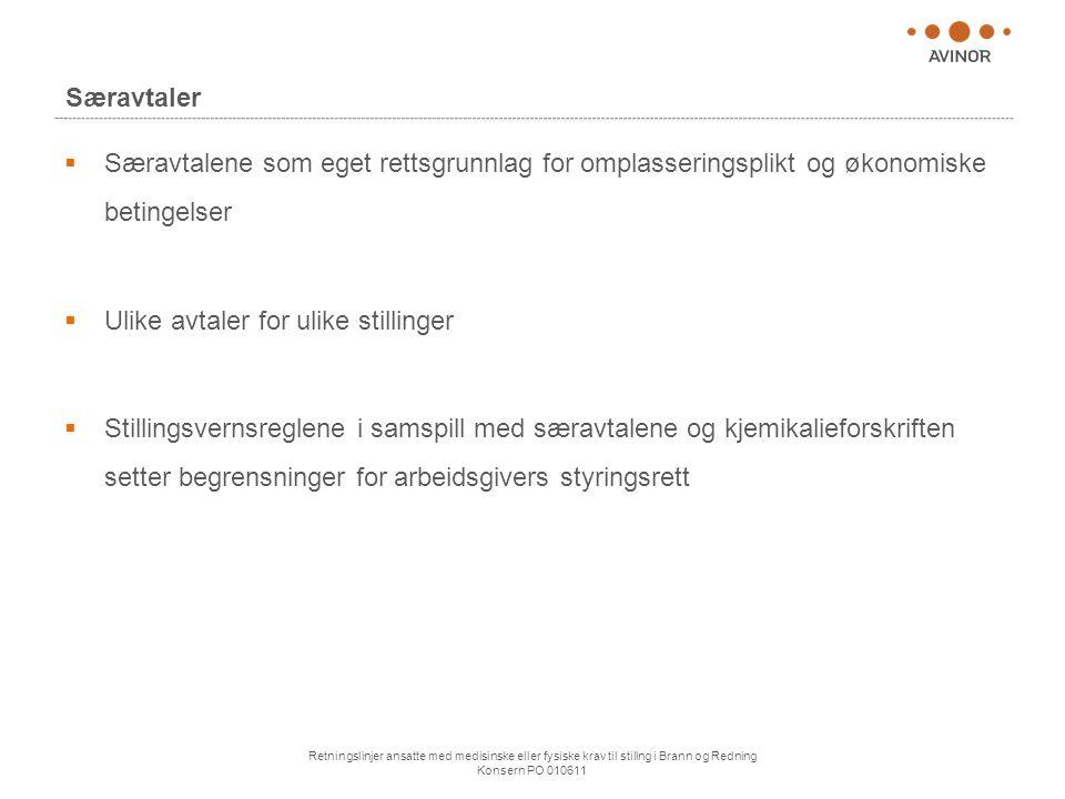 Ulike avtaler for ulike stillinger