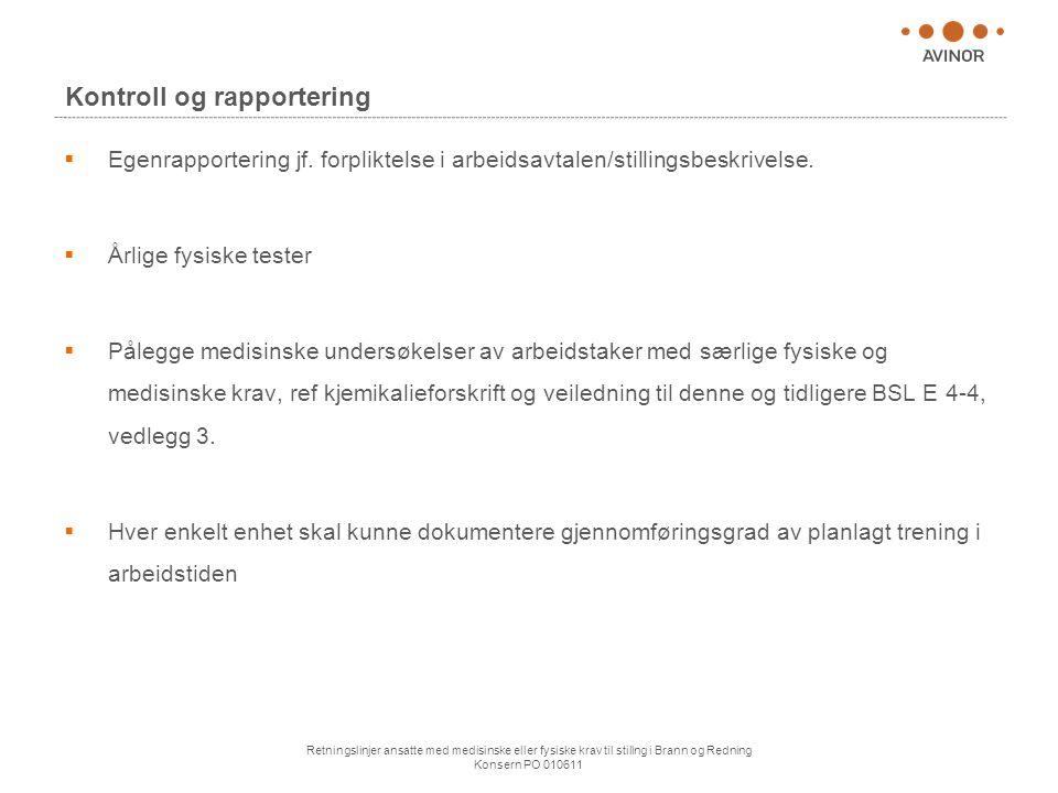 Kontroll og rapportering