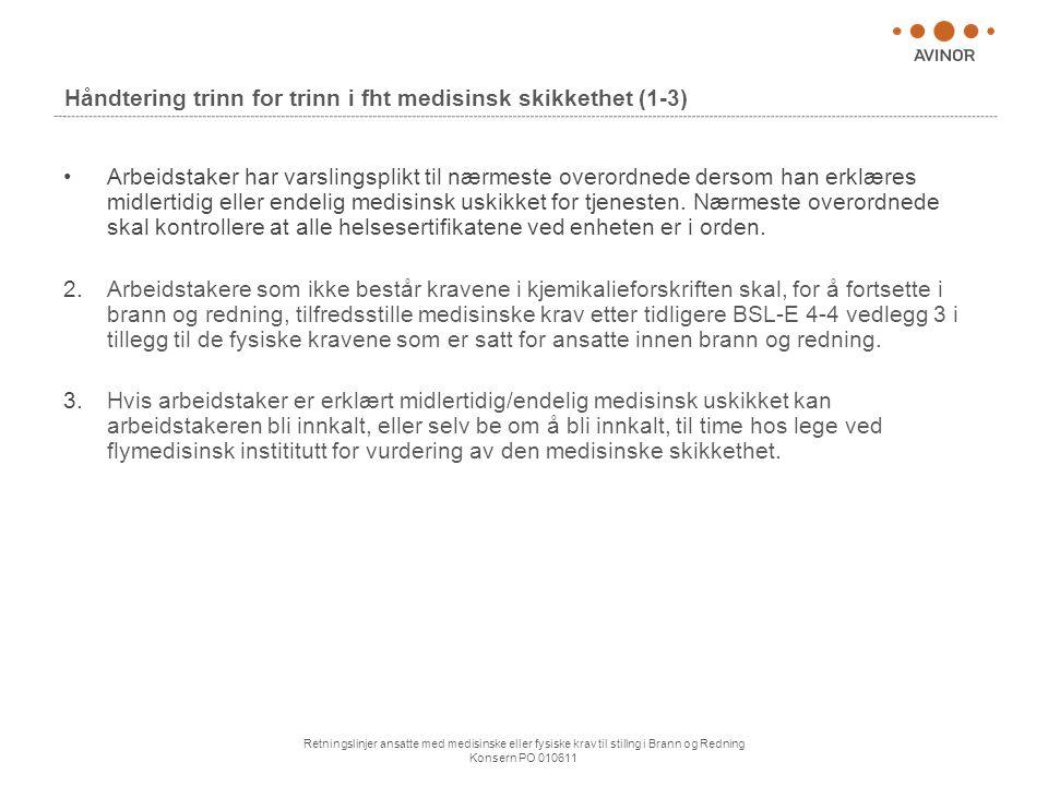 Håndtering trinn for trinn i fht medisinsk skikkethet (1-3)