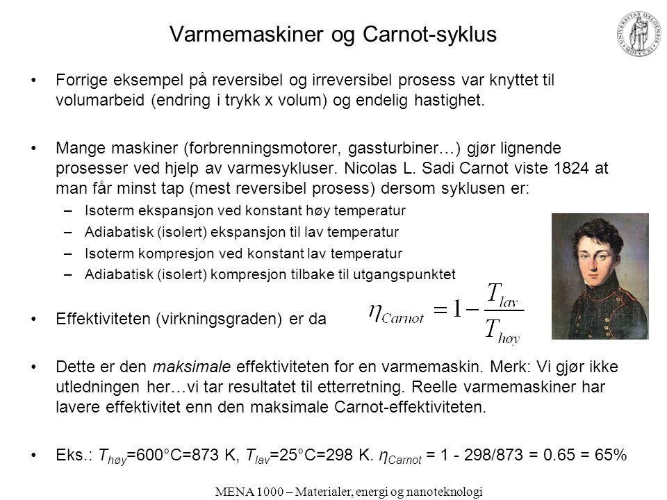 Varmemaskiner og Carnot-syklus