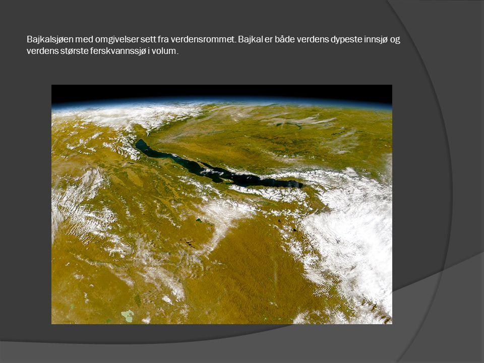 Bajkalsjøen med omgivelser sett fra verdensrommet