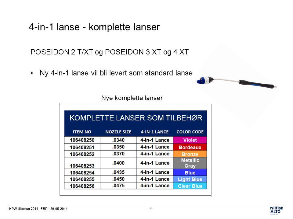 4-in-1 lanse - komplette lanser