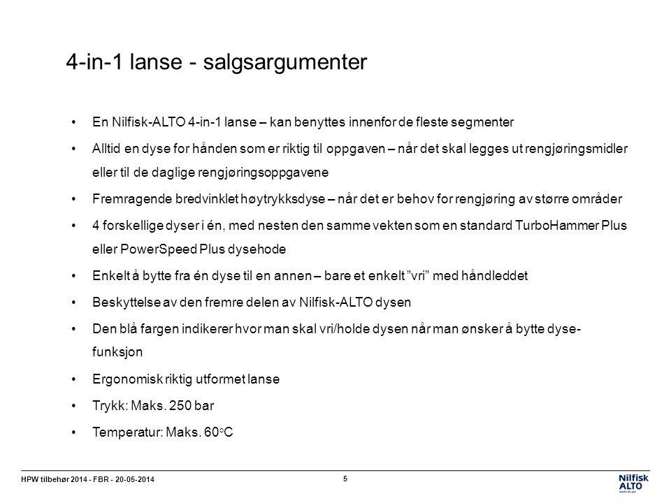 4-in-1 lanse - salgsargumenter