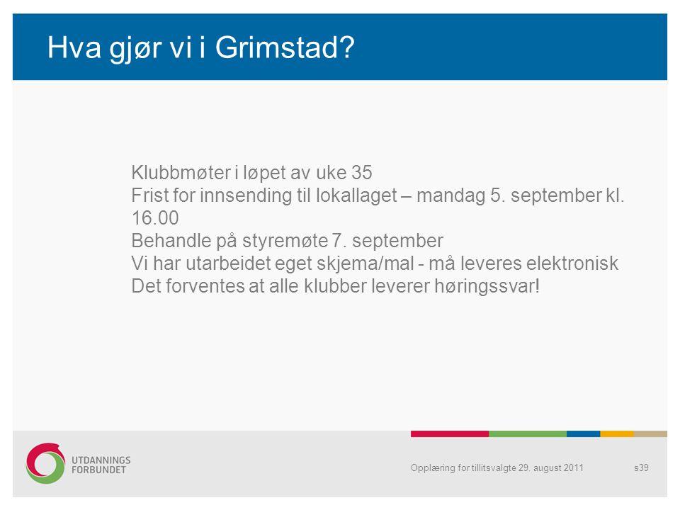 Hva gjør vi i Grimstad