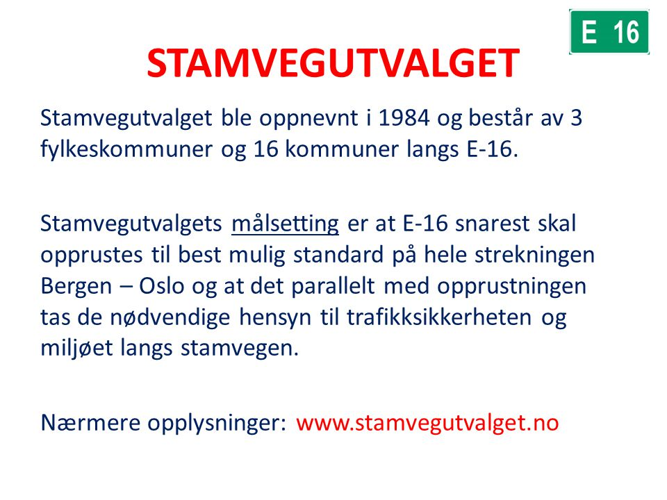 STAMVEGUTVALGET