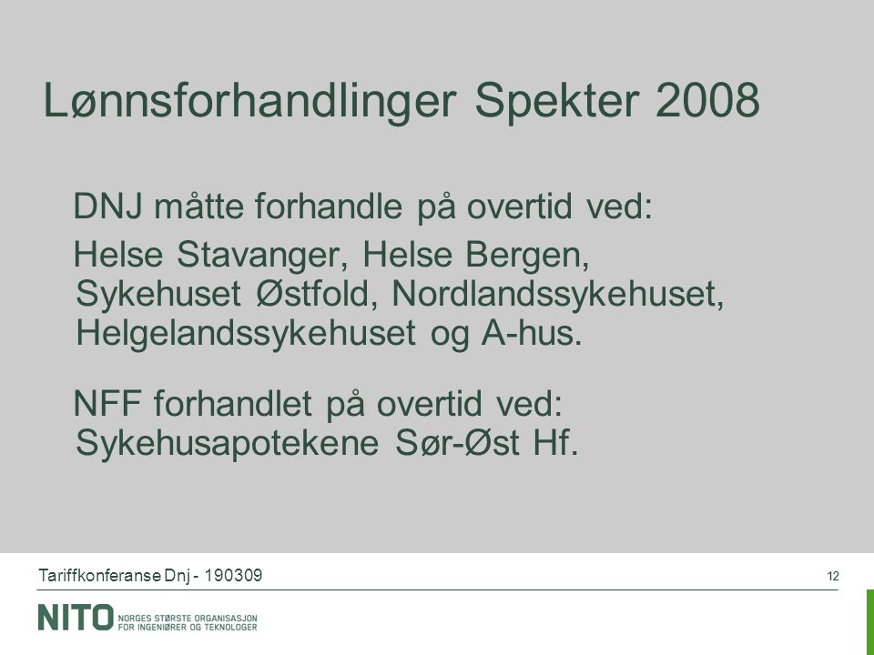 Lønnsforhandlinger Spekter 2008