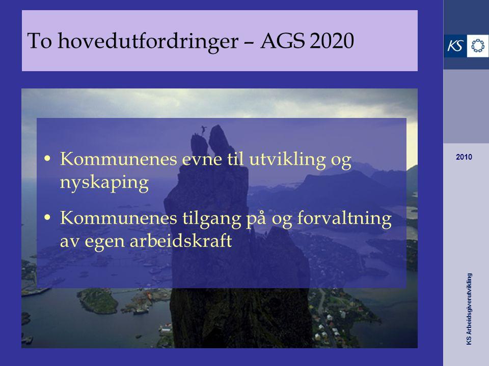 To hovedutfordringer – AGS 2020