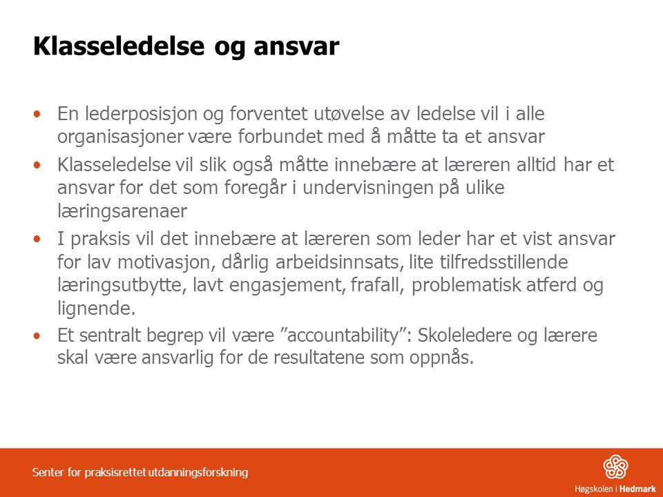 Klasseledelse og ansvar