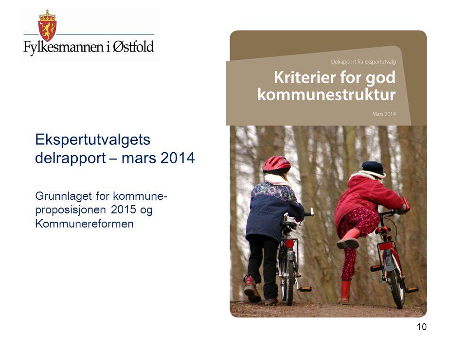 Ekspertutvalgets delrapport – mars 2014