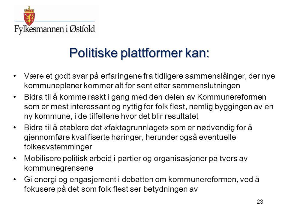 Politiske plattformer kan: