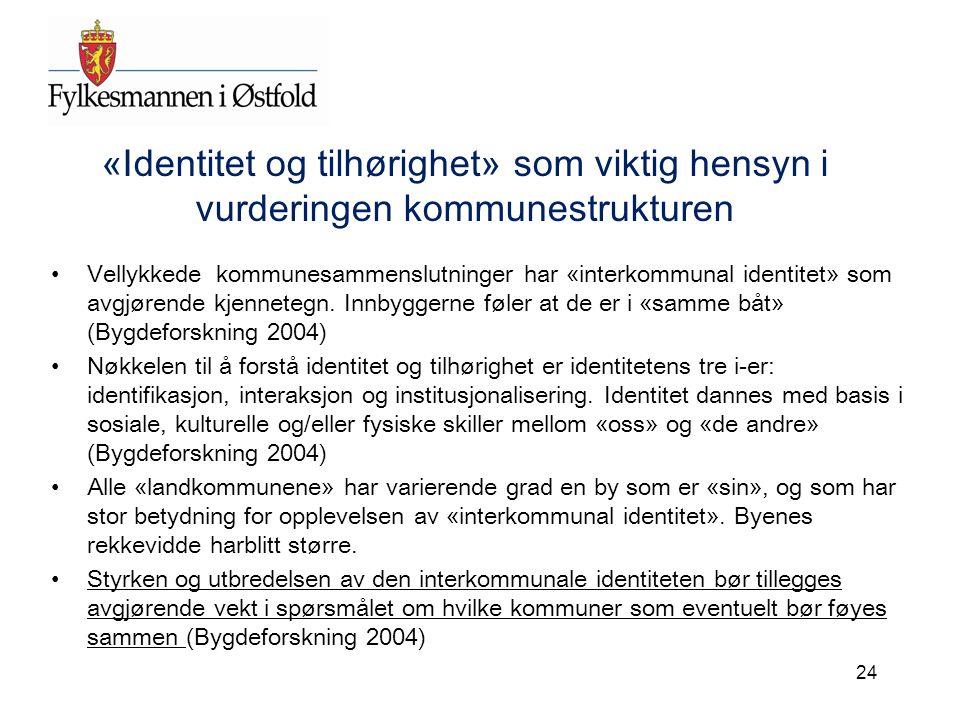 «Identitet og tilhørighet» som viktig hensyn i vurderingen kommunestrukturen
