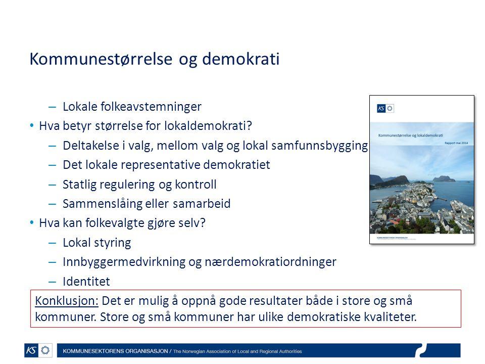 Kommunestørrelse og demokrati