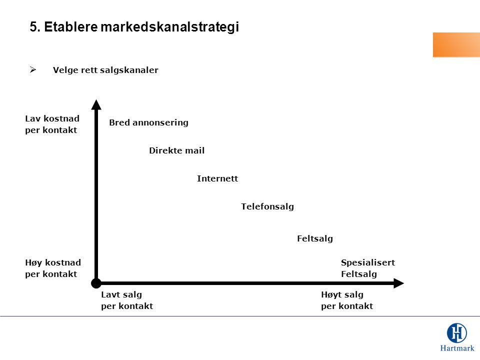 5. Etablere markedskanalstrategi
