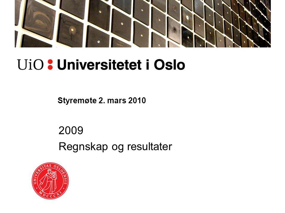 2009 Regnskap og resultater