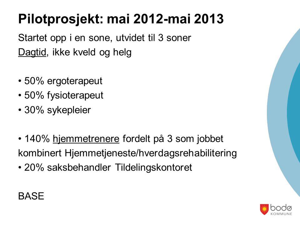 Pilotprosjekt: mai 2012-mai 2013