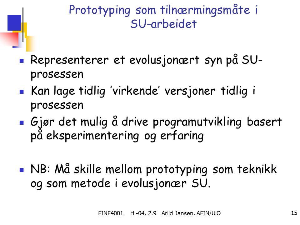 Prototyping som tilnærmingsmåte i SU-arbeidet