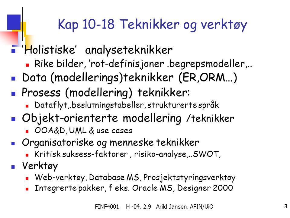 Kap 10-18 Teknikker og verktøy