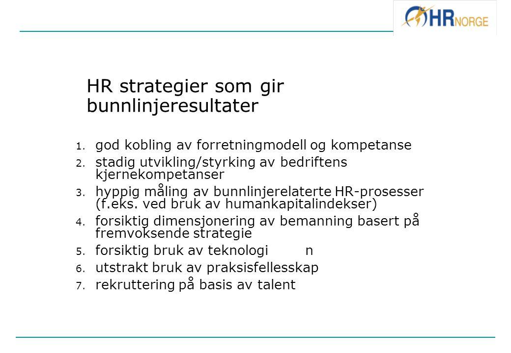 HR strategier som gir bunnlinjeresultater