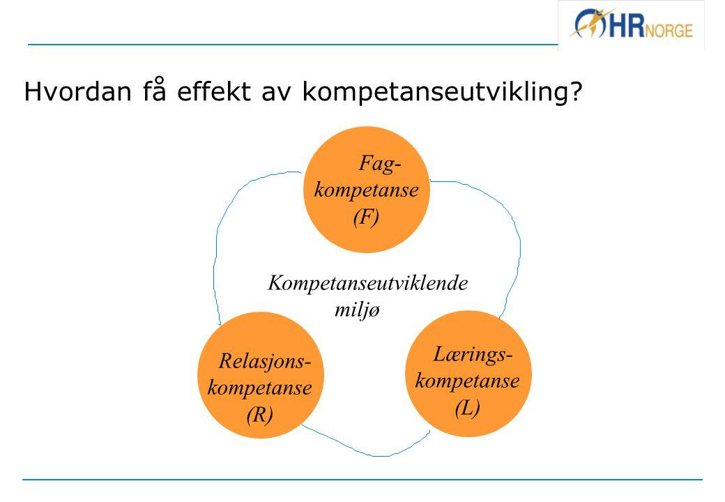 Hvordan få effekt av kompetanseutvikling