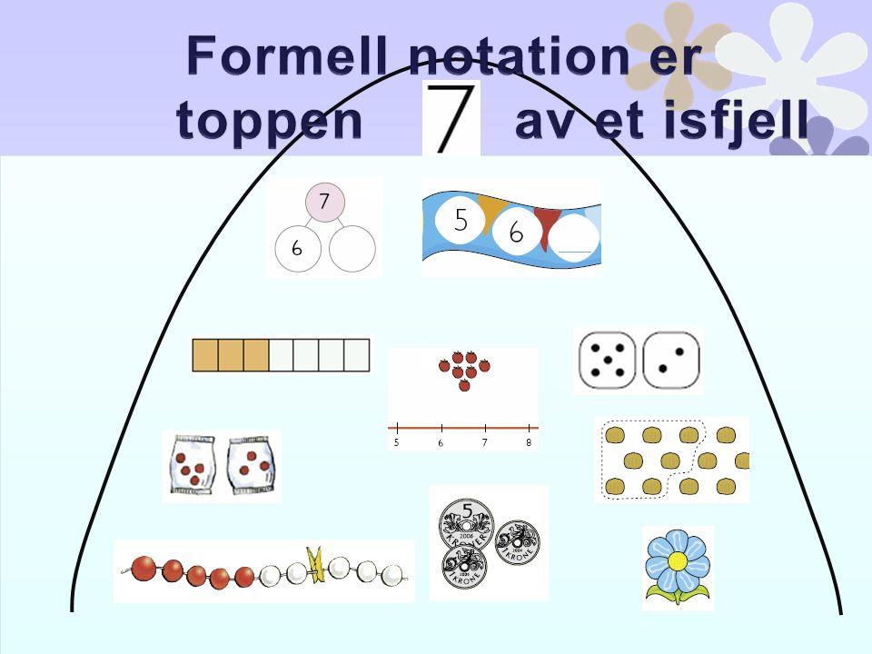 Formell notation er toppen av et isfjell