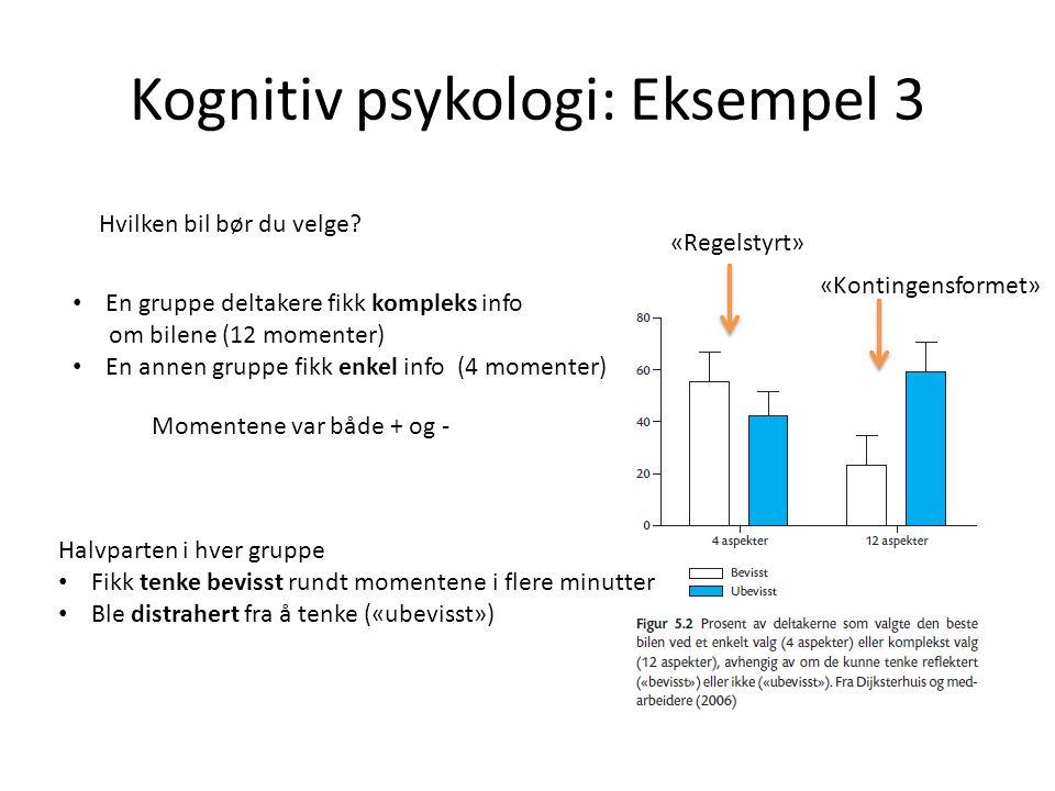 Kognitiv psykologi: Eksempel 3