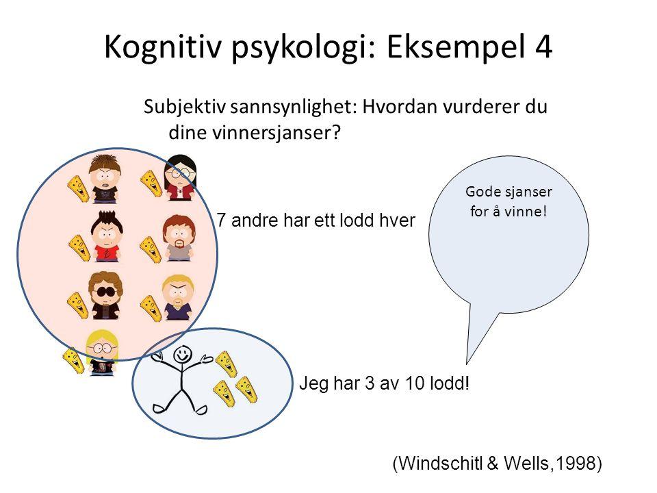 Kognitiv psykologi: Eksempel 4