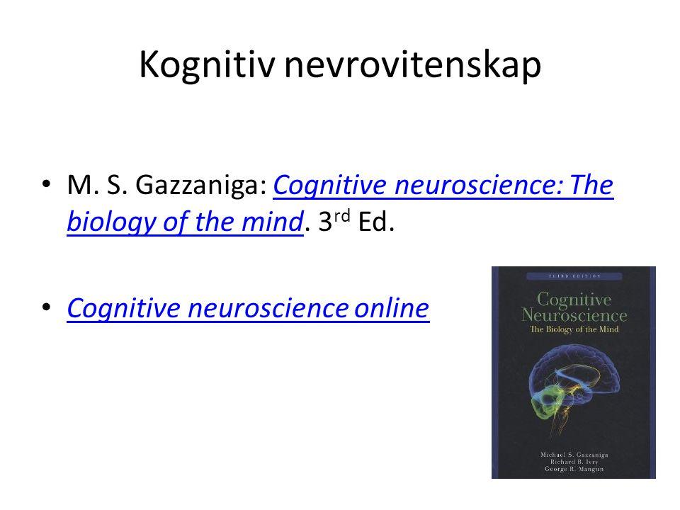 Kognitiv nevrovitenskap
